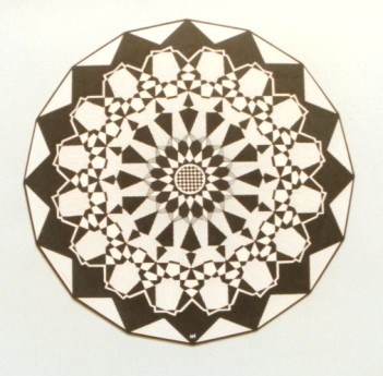 294 - Caleidoscope-series - Circle 16-angle Rosette [65x65]